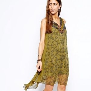 Free People Ancient Mystery Dress In Sage Green XS